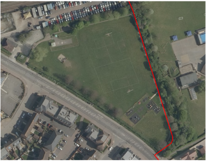 Aerial shot of the recreation ground