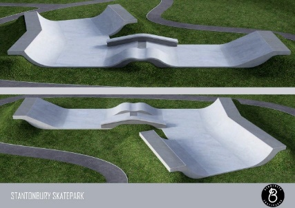 skate park ramp from the side
