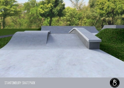 skate park ramp close shot
